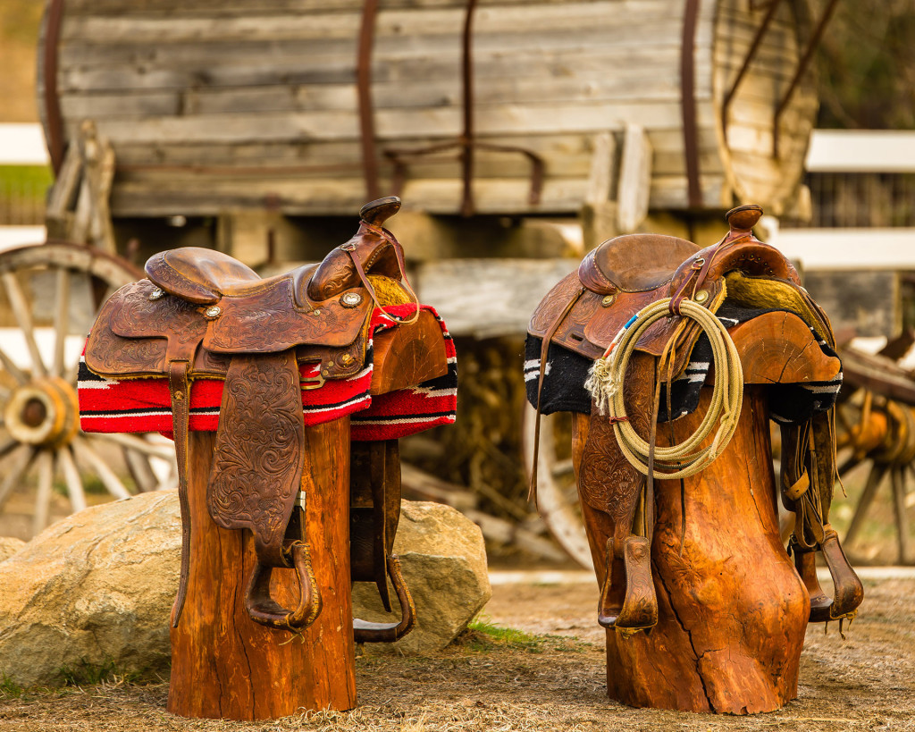 Cowboy, Western Saddle Bar Stools
