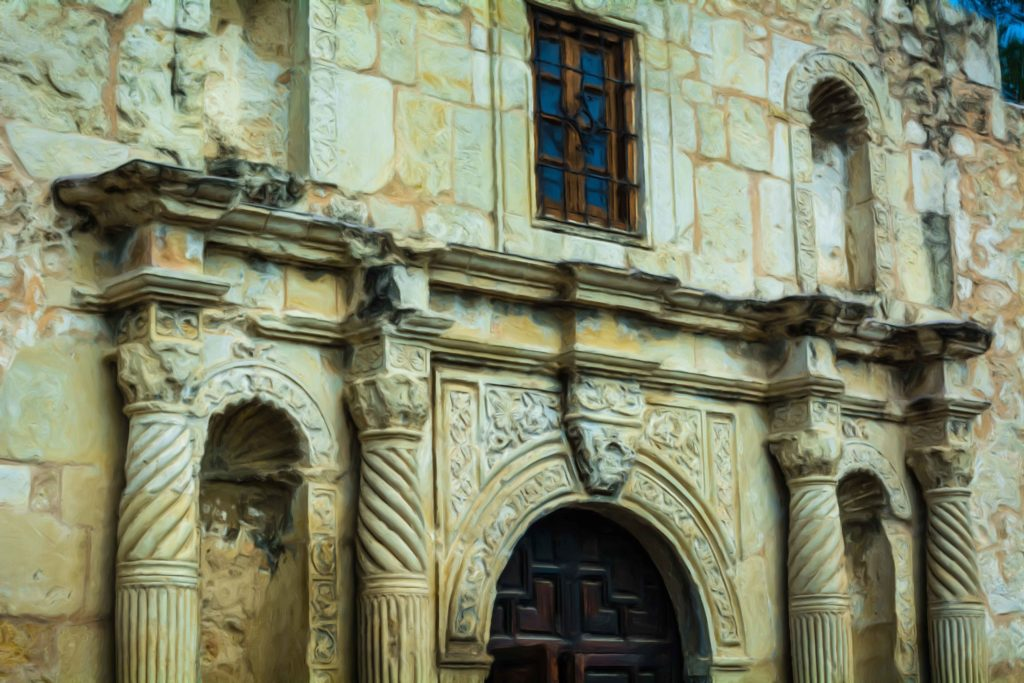 Historic Old West Wall Art - The Alamo in San Antonio, Texas
