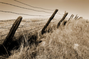 Iconic Images of the West - Barbed Wire fence photo