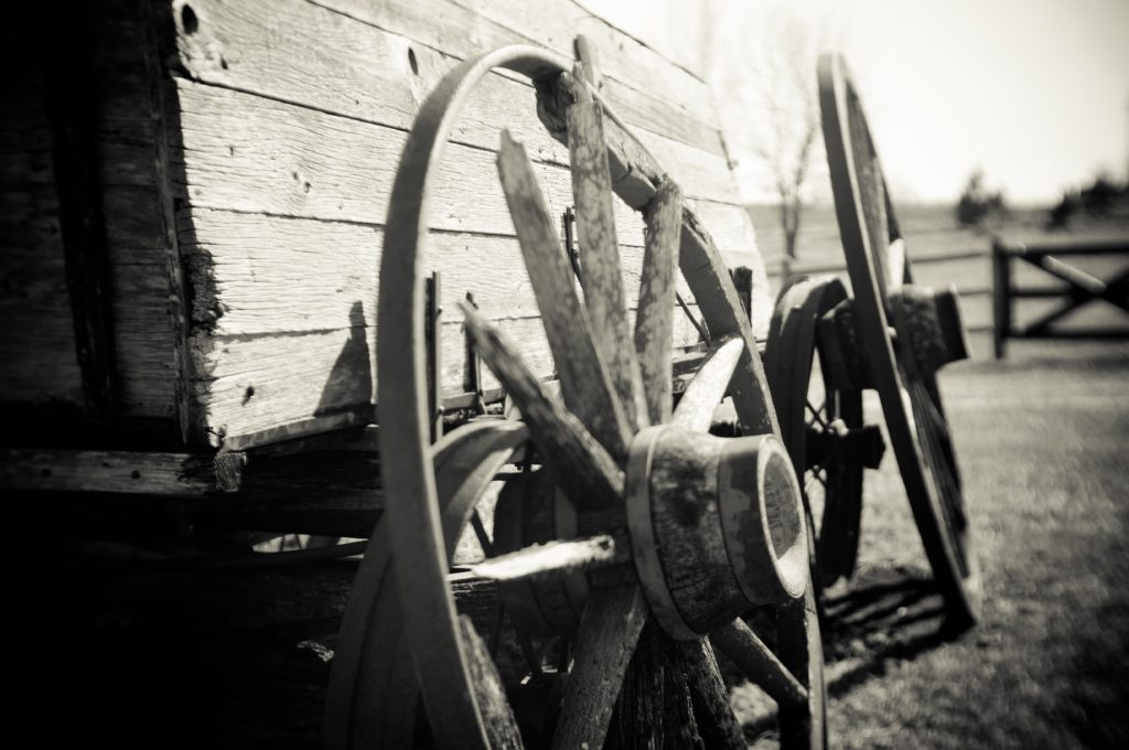 Iconic Images of the West - Wagon Wheels photo